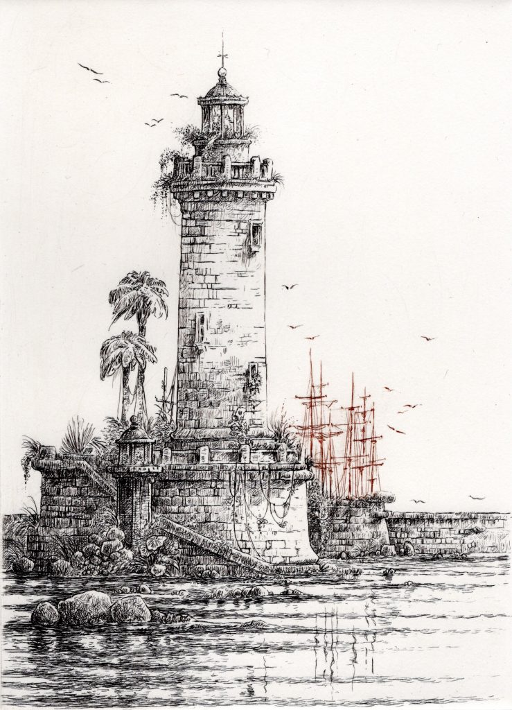 Phare exotique (40 x 30)