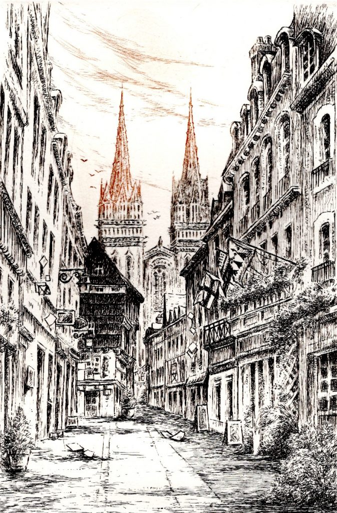 Rue Kéreon Quimper (35 x 25)