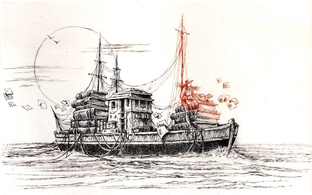 L'Ecrivain Voyageur (30 x 40)